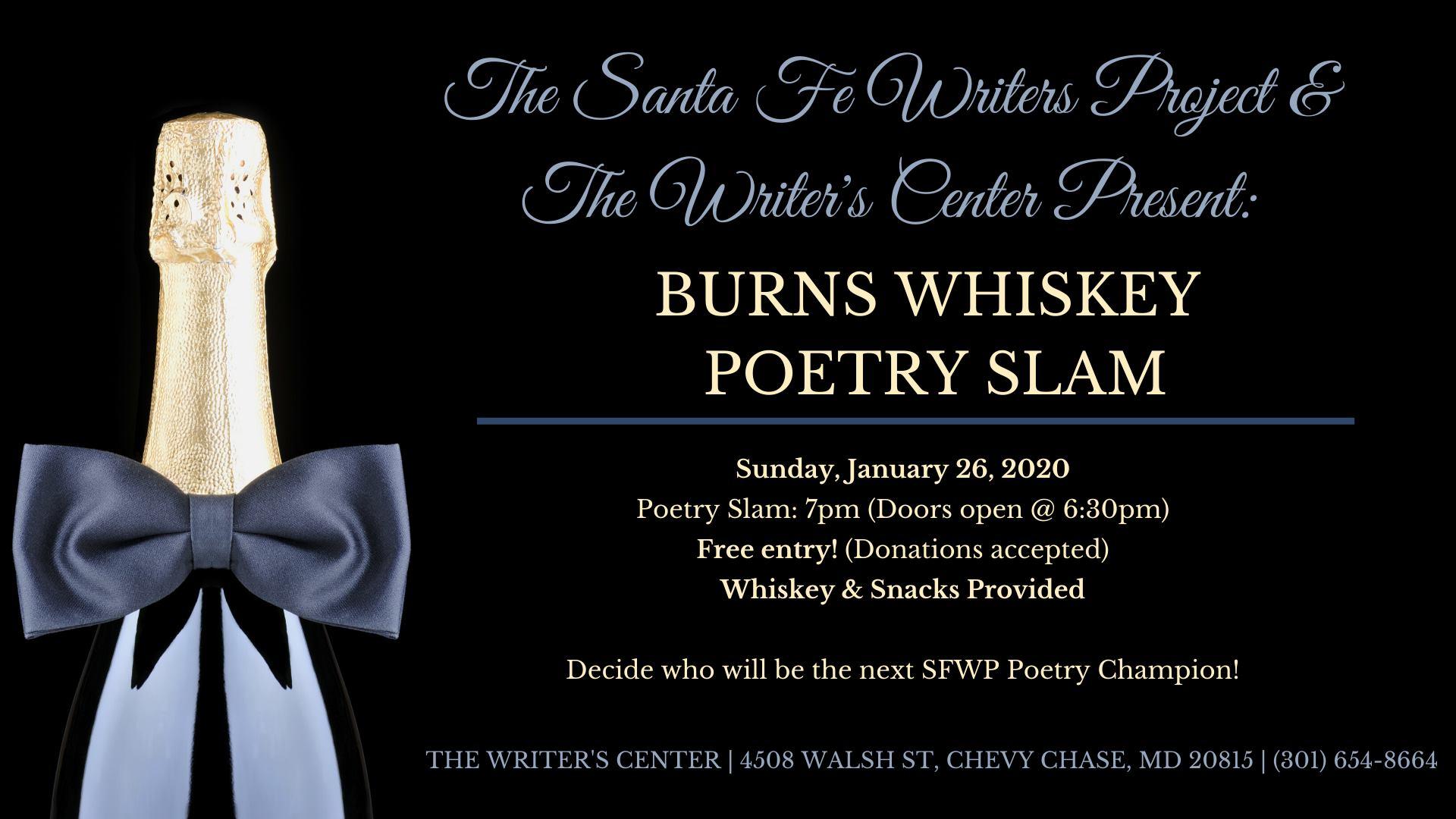 Burns Whiskey Poetry Slam
